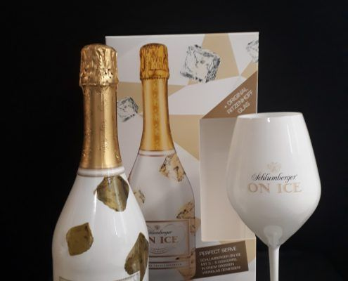 Geschenkverpakking Schlumberger + glas