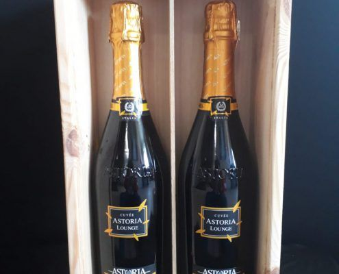 Houten kistje voor 2 wijnflessen